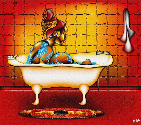 Bathing Mixed Media by Anthony Crudup