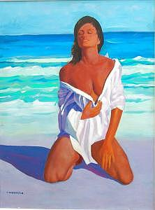 Painting Painting - Bathing Beauty by Perry  Rubenstein