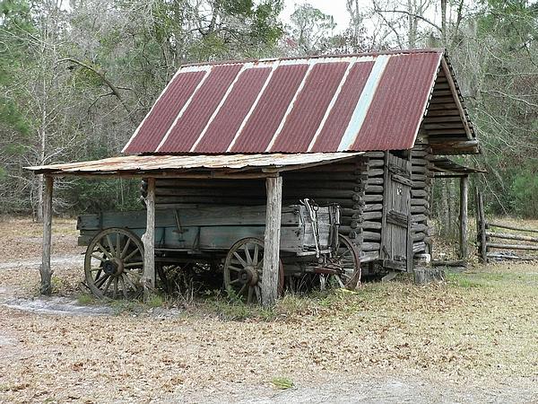 Barn Photograph - Battered Barn And Weathered Wagon by Al Powell Photography USA