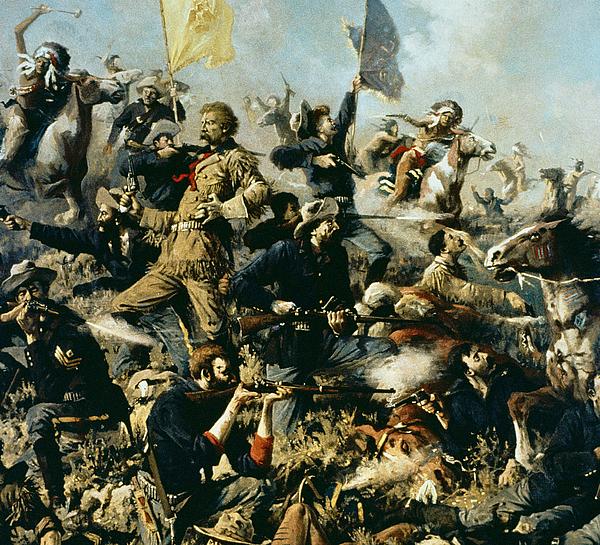 Battle Of Little Bighorn Painting - Battle Of Little Bighorn by Edgar Samuel Paxson