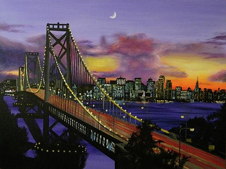 Bay Bridge Painting By Aaron Joseph Gutierrez