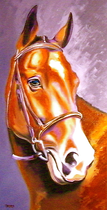 Horse Painting - Bay Champion by Susan A Becker