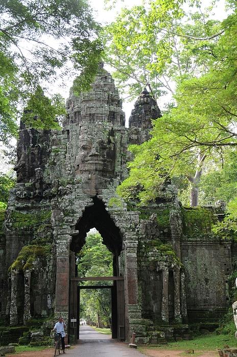 Cambodia Photograph - Bayon Gate by Marion Galt