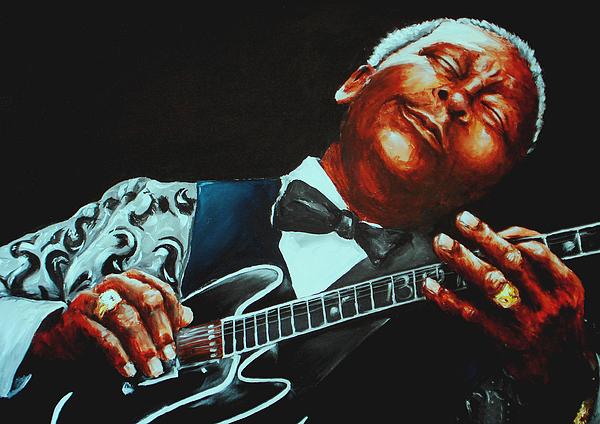 Bb King Painting - Bb King Of The Blues by Richard Klingbeil
