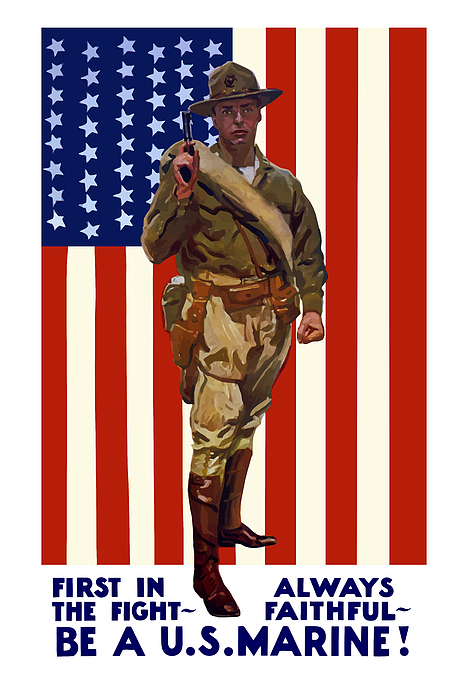 Marine Corps Painting - Be A Us Marine by War Is Hell Store