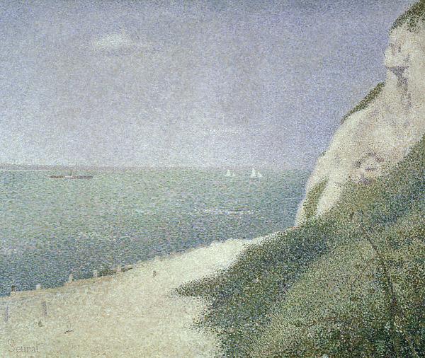Honfleur Painting - Beach At Bas Butin by Georges Pierre Seurat