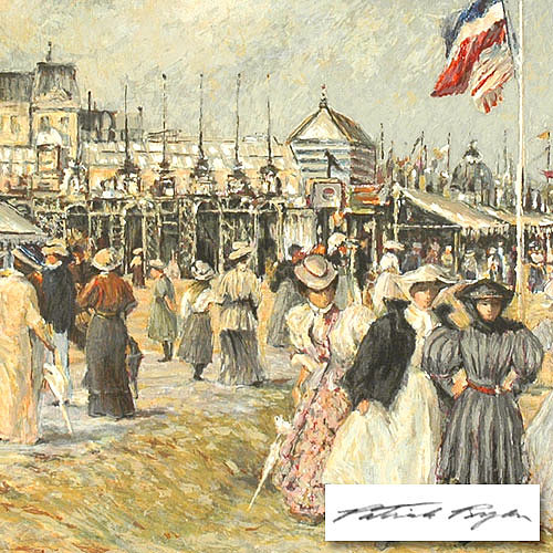 People Painting - Beach At Trouville by Patrick Ryan