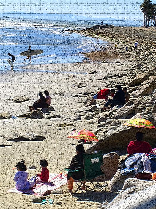 Beachscape Photograph - Beach Babies 2 by Robin Hernandez