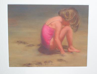 Beach Baby Painting by Diane Caudle