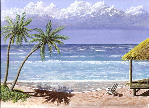 Beach House Painting by Don Lindemann