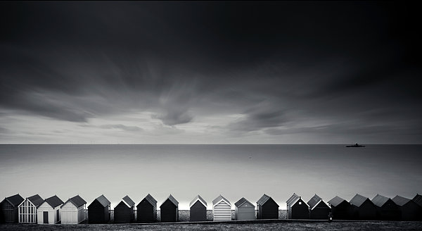 Horizontal Photograph - Beach Huts by Www.matthewtoynbee.net