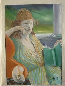 Woman Painting - Beach Life by Marlene Files
