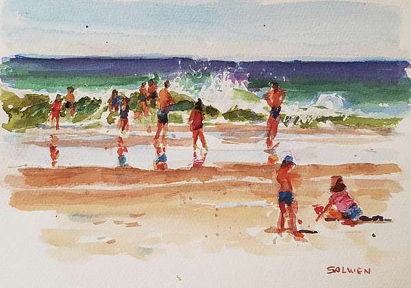 Landscape Painting - Beach Scene, Afternoon by Peter Salwen