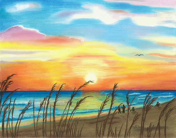 Oil pastel sunset by BrandiHellborn on deviantART |Pastel Drawings Of Sunsets