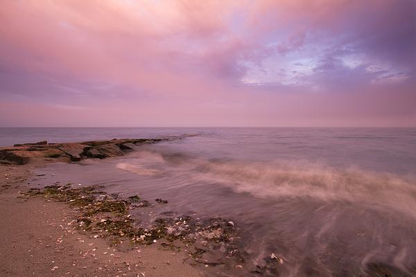 Beach Photograph - Beach Sunset In Connecticut Landscape by Stephanie McDowell