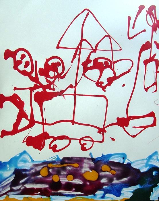 Abstract Painting - Beachside by Nanak Chadha