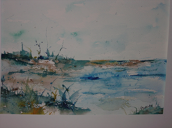 Grasses Painting - Beachside by Robin Miller-Bookhout