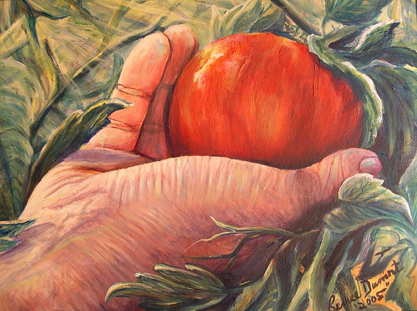 Fruit Print - Bearing Good Fruit by Renee Dumont  Museum Quality Oil Paintings  Dumont