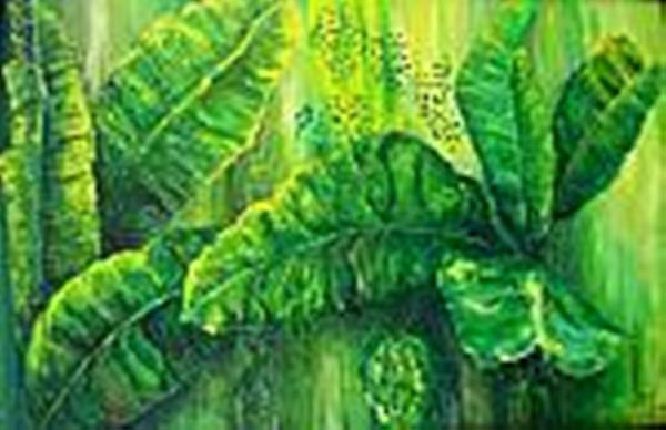 Beautiful Banana Leaves Painting by Carol P Kingsley