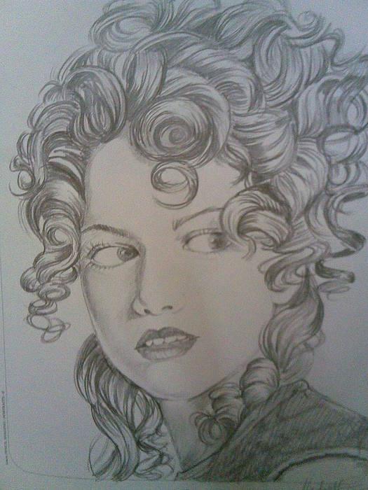 Beautiful Curls Drawing by Nischitha Shenoy