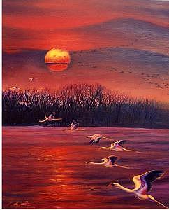 Beautiful Flight Painting by Pravit Rojawat