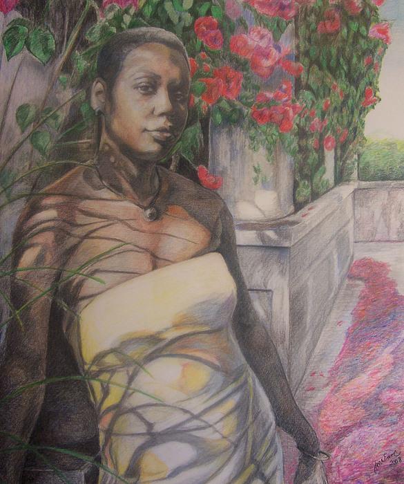 Portrait Painting - Beautiful Flower by Joyce McEwen Crawford