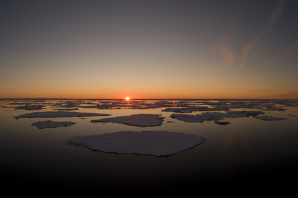 Outdoors Photograph - Beautiful Sunset Over An Arctic Ice by Norbert Rosing