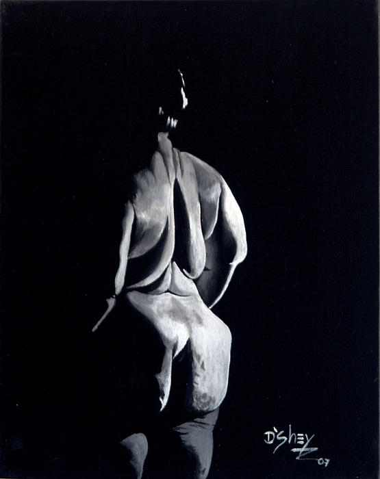 Nude Painting - Beauty In The Shadows 7 by Don MacCarthy