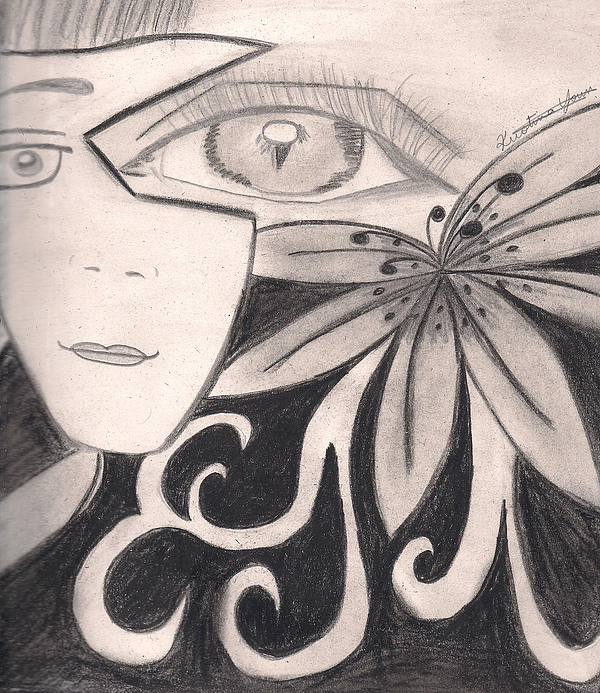 Beauty Drawing - Beauty Is In The Eye Of The Beholder by Kristina  Youn