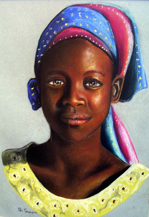 African Painting - Beauty by Paul Sandilands