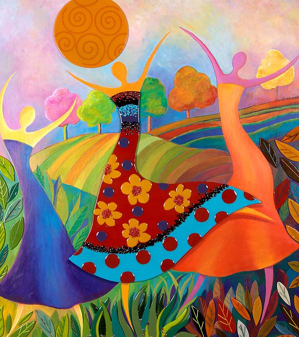 Women Mixed Media - Beauty Through Her Seasons by Anne Nye