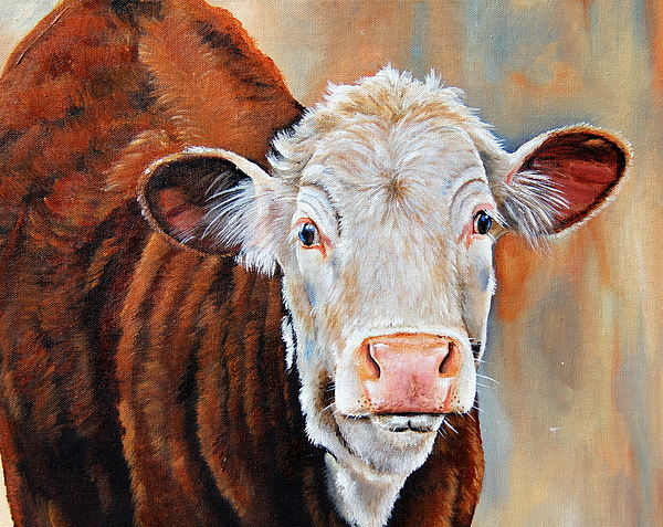 Hereford Painting - Becca by Laura Carey