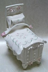 Bed Container Ceramic Art by Nancy Michalak