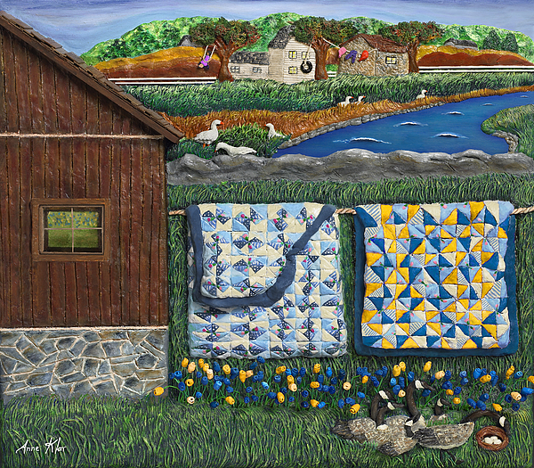 Farm Mixed Media - Before Now by Anne Klar