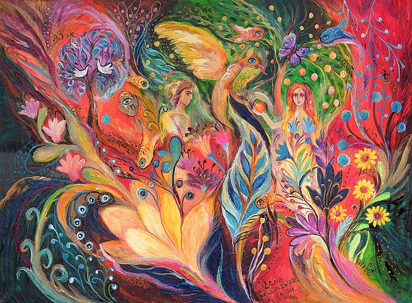 Original Painting - Before The First Sin by Elena Kotliarker