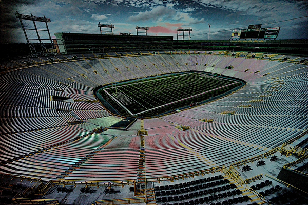 Lambeau Photograph - Before The Game At Lambeau by Lawrence Christopher