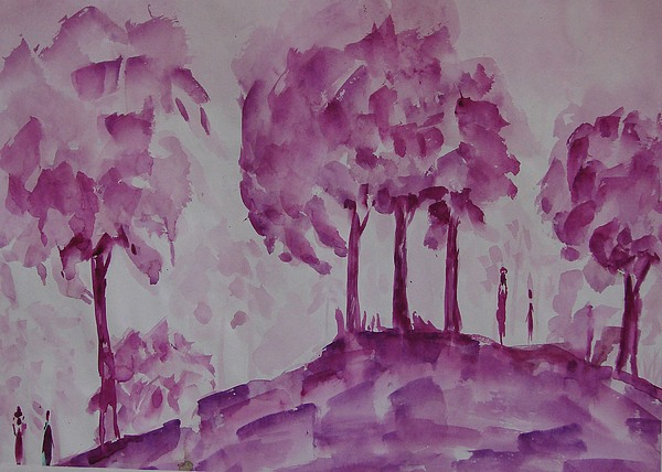 Nature Painting - Begining Of Ending by Rima