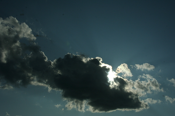 Cloud Photograph - Behind Every Dark Cloud by Gregory Jeffries