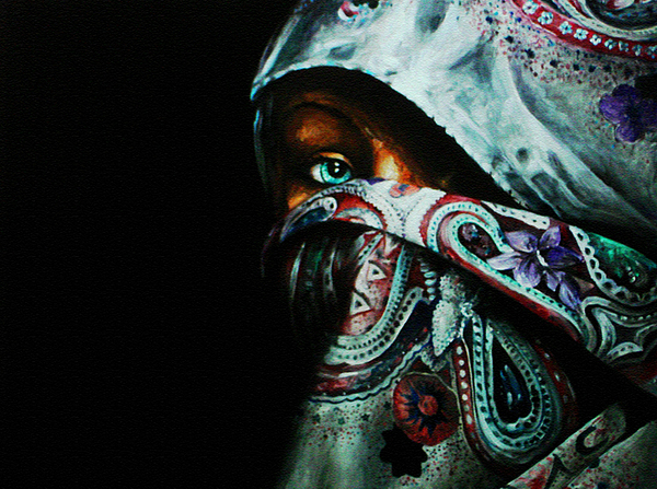 Middle East Painting - Behind The Veil by Richard Klingbeil