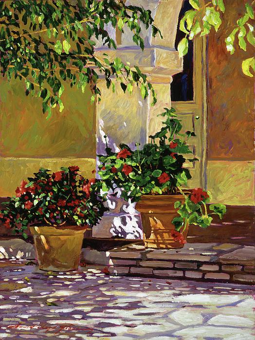 California Painting - Bel-air Patio Steps by David Lloyd Glover