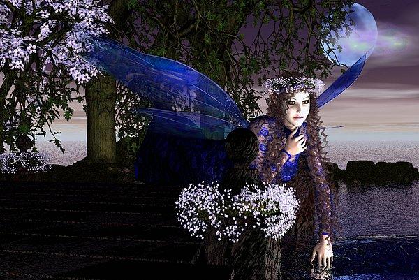 Fairy Mixed Media - Believe by Eva Thomas