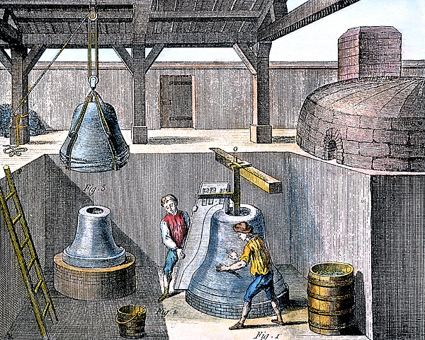 1763 Photograph - Bell Casting, 1763 by Granger