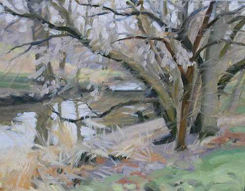 Michigan Painting - Bell Creek -- Plein Air Field Study by Margie Guyot