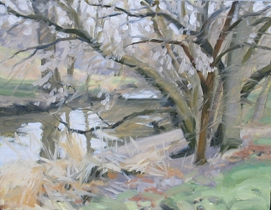 Bell Creek In January Thaw Painting by Margie Guyot