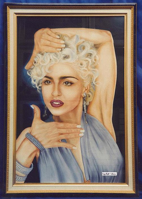 Portraits Painting - Ben-002 Madonna by Benito Alonso