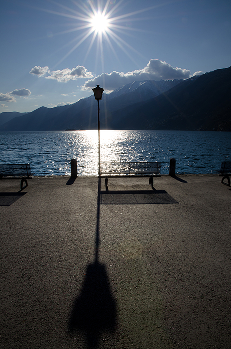 Bench Photograph - Bench And Street Lamp by Mats Silvan