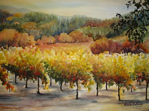 Landscape Painting - Benesseres Vineyard by Marta Collings