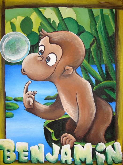 Monkey Painting - Benjamin by Dani Marie