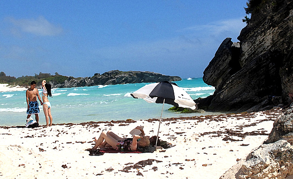 Bermuda Photograph - Bermuda On The Beach by Ian  MacDonald