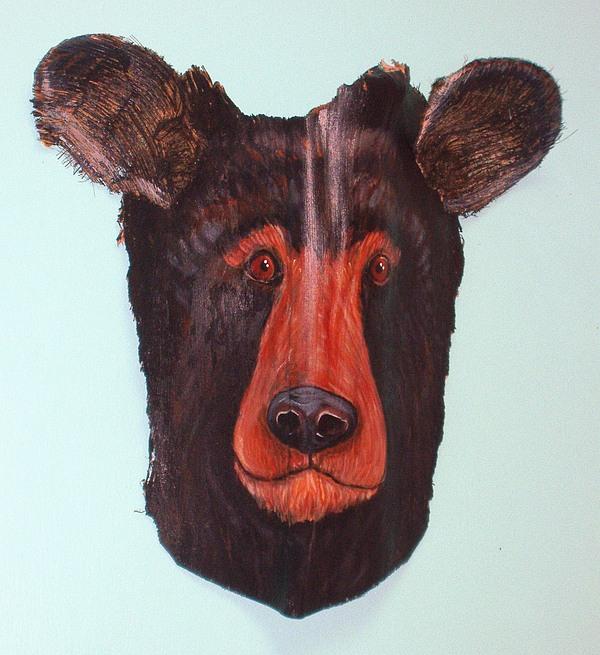 Bear Mixed Media - Berry Black Bear by Ellen Burns